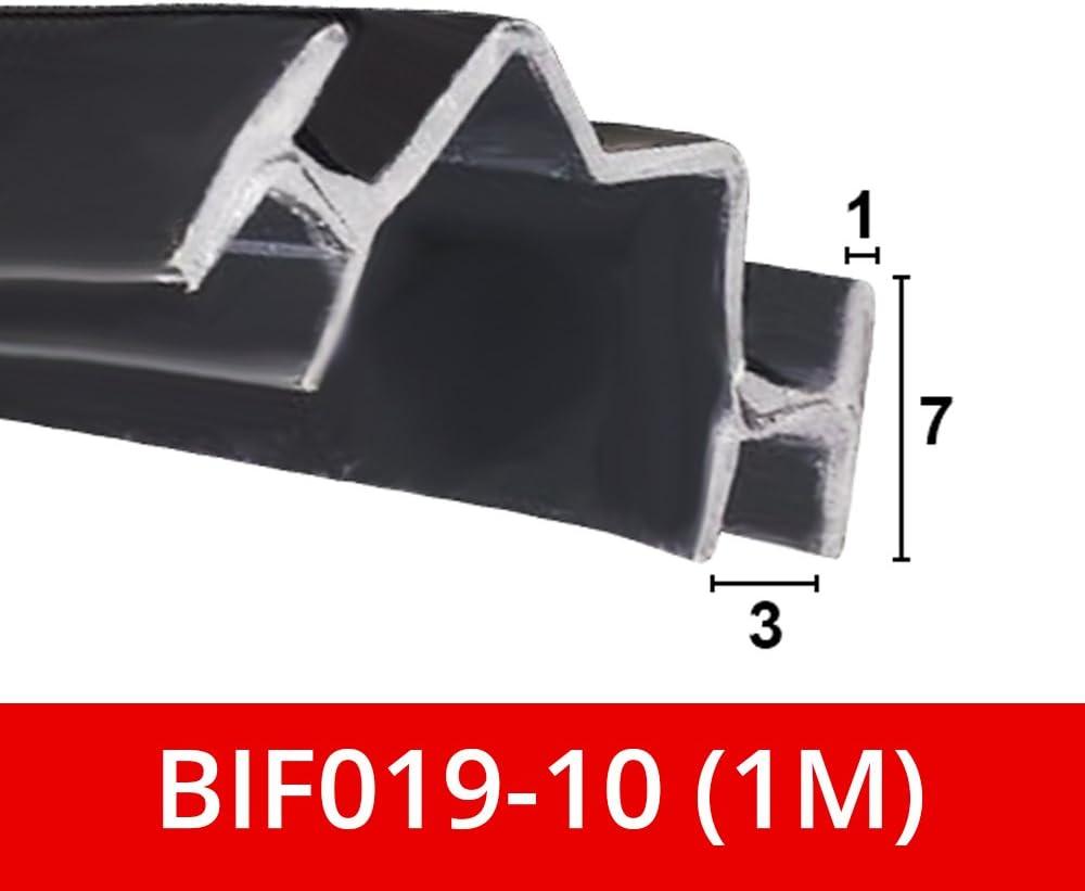 Bif019 pour BI pliante portes SE Range dans canal Joint en caoutchouc flexible Raccord de douche Noir Souple