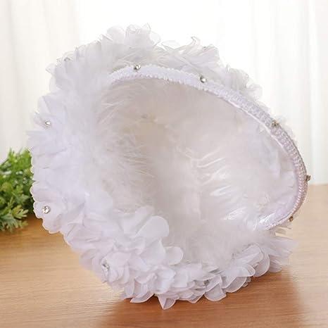 bomboniera per cerimonia nuziale per matrimonio fidanzamento Almabner Cesto per fiori da sposa coriandoli