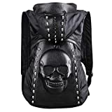 USAMYNA Skull Backpack Rivet Punk Backpack Black Metal 3D Stereo Backpack