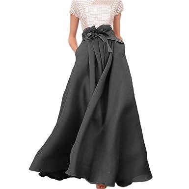 lisong Mujer suelo Longitud arco tafetán Prom partido falda ...