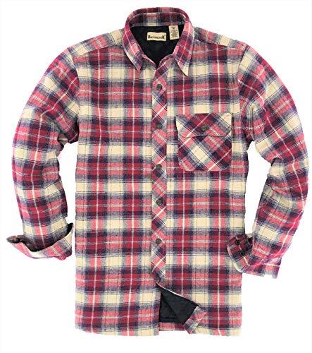 (Backpacker Men's Flannel/Quilt Lined Shirt Jacket, Independent, Medium)