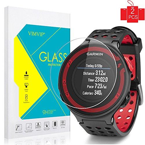 Garmin Forerunner 235 225 Screen Protector,VIMVIP [2 Pack] Easy Install Full Cover Tempered Glass Screen Protector for Garmin Forerunner 235/225,with