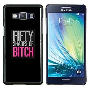 Cartel Shades Cincuenta Negro Rosa- Metal de aluminio y de plástico duro Caja del teléfono - Negro - Samsung Galaxy A5 / SM-A500