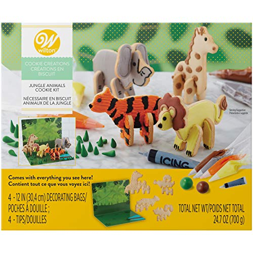 - Wilton Cookie Creations Jungle Animal Cookie Kit