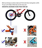 Little World Training Wheels Heavy Duty Rear Wheel Bicycle Stabilizers Mounted Kit Compatible for Bikes of 14 16 18 20 Inch, 1 Pair-Stronger Version