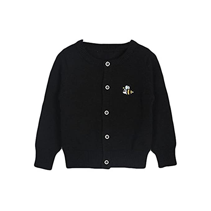 510e0463a Amazon.com  Baby Little Girls Kids Spring Autumn Cute Bee Embroidery ...