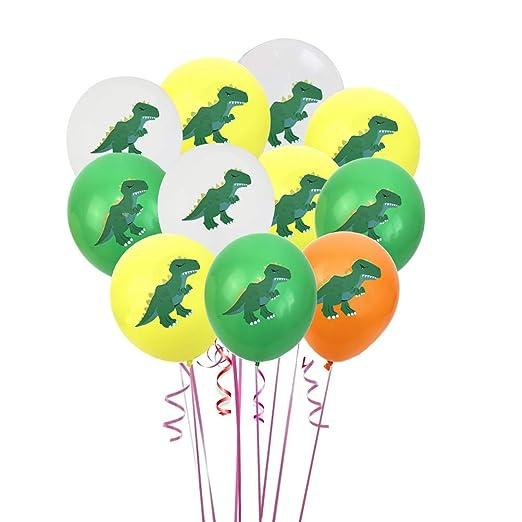BESTOYARD 12pcs Dinosaurio Globos de látex decoración para ...