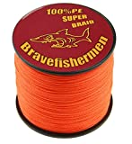Fluorescent orange Super Strong Pe Braided Fishing Line 6LB to100LB (500m, 70LB)