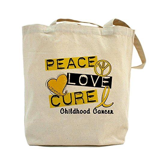 Bolso de totalizador de CafePress - paz amor bolso de totalizador de la curación del cáncer