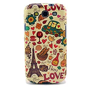 JAJAY-Eiffel Tower & Bread Glossy TPU Case for Samsung Galaxy S3 I9300
