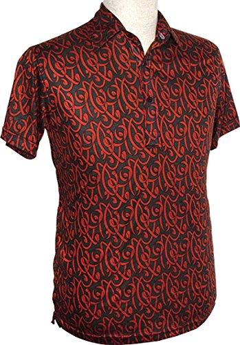 70er Jahre Polo shirt Ribbons rust, Chenaski
