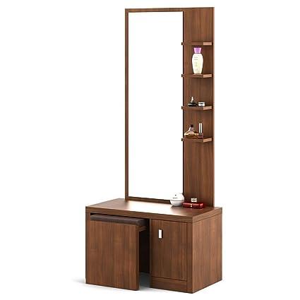 Spacewood Ciara Dresser Table with Stool (Walnut Rigato)