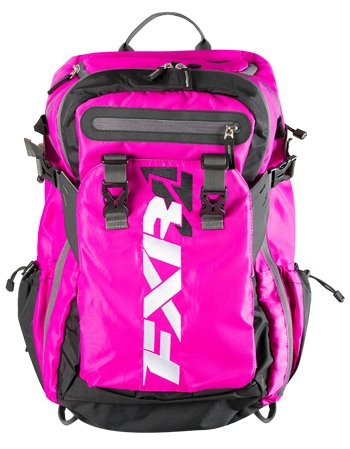 FXR Racing Fuchsia/Black Ride Back-Pack (Snowmobiling Shovel)