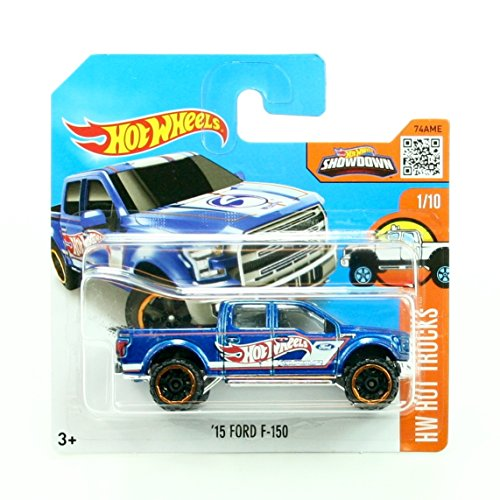 '15 FORD F-150 (141/250) * Short Card Package * Hot Wheels 2016 HW HOT TRUCKS SERIES (01/10) 1:64 Scale Die-Cast Vehicle