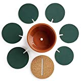 Drhob Flee 6-Piece Green Coaster Set with Flower