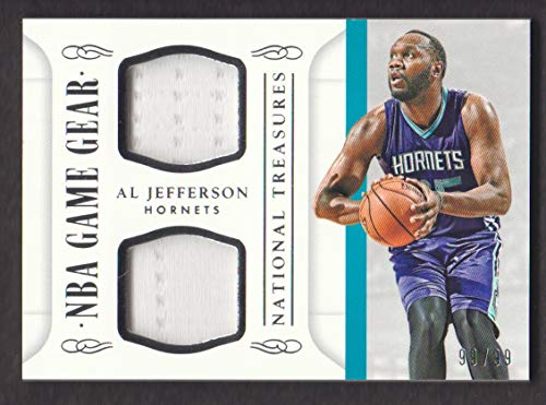 2014-15 Panini National Treasures Basketball NBA Game Gear Duals #AJ Al Jefferson Jersey 99/99