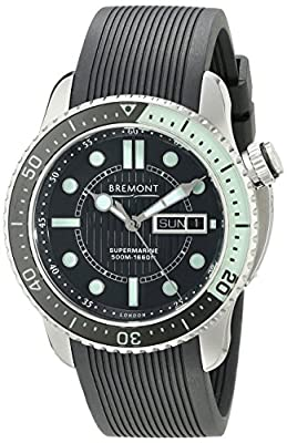Bremont Men's S500/BG Analog Display Swiss Automatic Black Watch