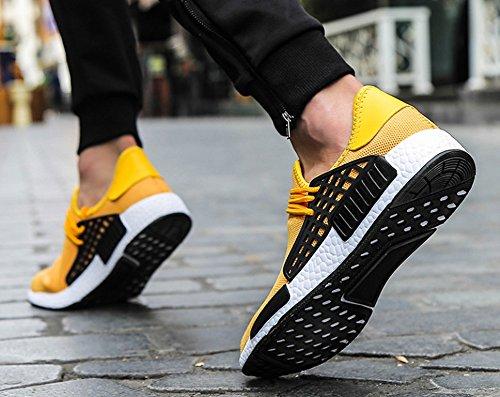 JiYe Herren Laufschuhe Free Transform Flyknit Fashion Sneakers Gelb