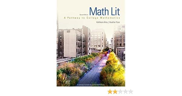Math lit 2 kathleen almy heather foes amazon fandeluxe Image collections
