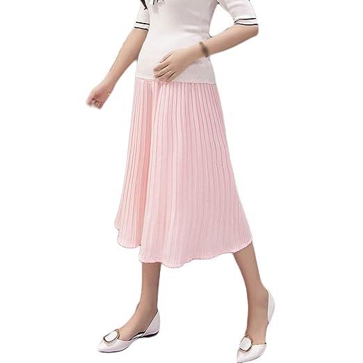 Pantalones de Mujer Embarazada Vestir Moda Cintura Baja Plisado ...