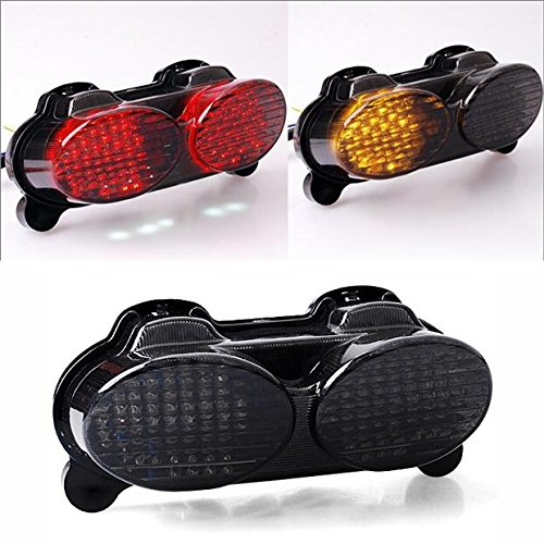 New Integrated LED Tail Light Turn Signals Brake Lamp For Kawasaki ZX6R ZX9R ZZR600 ZX900 ZR7S