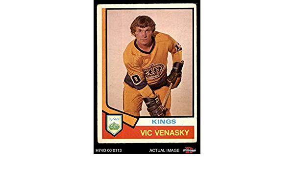 Amazon com: 1974 O-Pee-Chee NHL # 389 Vic Venasky Los