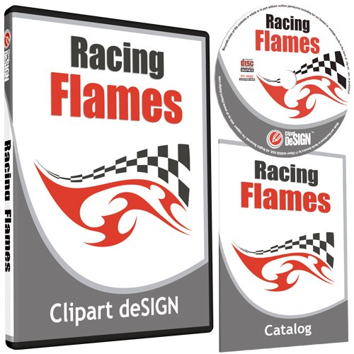 Flame Catalog Number (Racing Flames Clipart-Vinyl Cutter Plotter Images-Vector Clip Art Graphics CD-ROM)