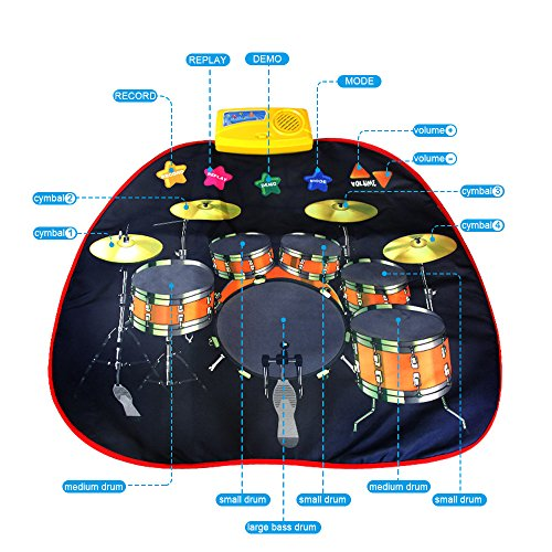 Electronic Musical Jazz Drum Mat Music Blanket Carpet Educational Toy Amazing Gifts for Boys & Girls and Baby Kids 72x62cmM by Mefashion (Image #2)
