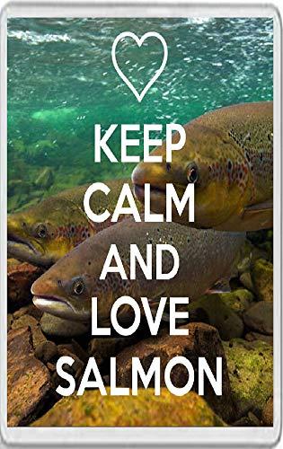 Jumbo Fridge Magnet Keep Calm and Love Salmon