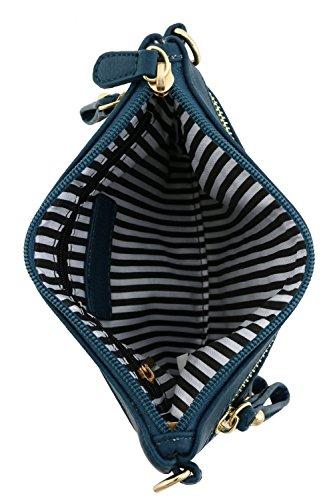 alzavola con emblema a con cerniera da multi tracolla polso piccola tasca Borsa f6SFCqwP