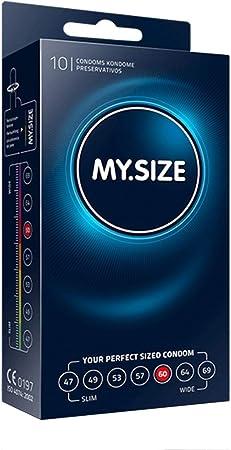 MY.SIZE - Condones, 60 mm, 10, Transparente (MS6010): Amazon.es ...