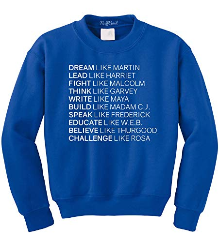 NuffSaid Dream Like Martin Pullover - Unisex Crew (XLarge, Royal Blue) from NuffSaid