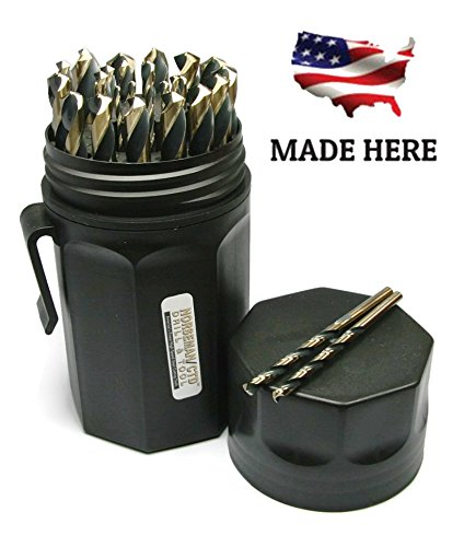 Norseman Super Premium Magnum 29 Piece Drill Bit Set   Black Ultradex   44170   135 Degree Split Point   Round Smooth Shank