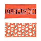 NCAA Clemson Tigers Reversible Team Color Wide Headband, Orange/White/Blue