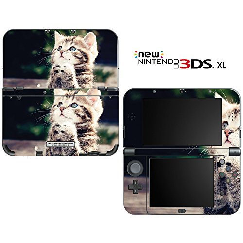 Kitty Praying Decorative Video Game Decal Cover Skin Protector for New Nintendo 3DS XL (2015 Edition)