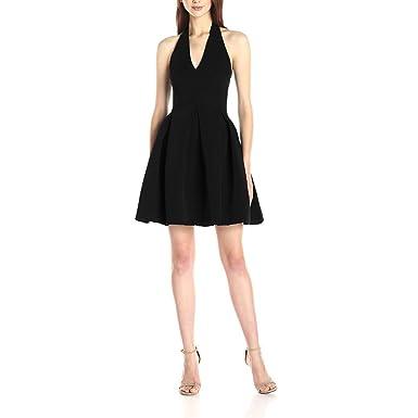 fc9e20cd4df Krastal Womens Dress Halter V Neck Backless Black Cocktail Party Sexy Mini  Dress