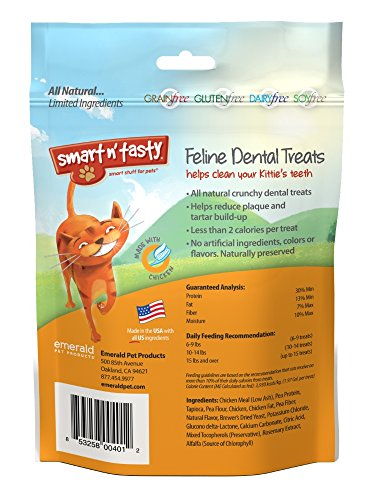 Smart-n-Tasty-Cat-Chicken-Dental-Grain-Free-Treats-3-Ounce