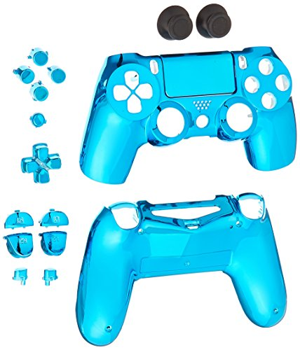 Game Bully Controller Full Housing Shell - Chrome Blue - PlayStation 4 ()