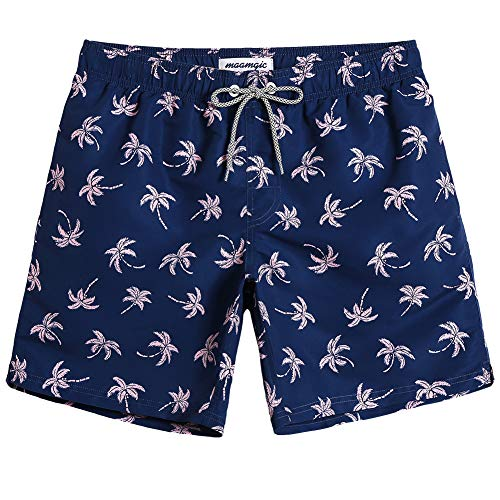 MaaMgic Mens Summer Quick Dry Beachwear Swim Trunks Swim Suit with Mesh Lining