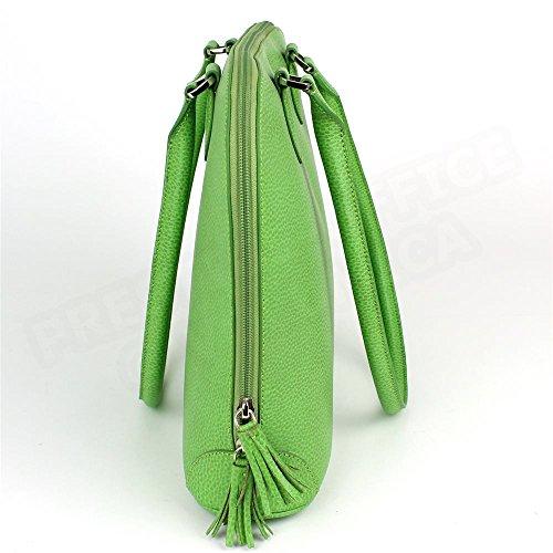 Sac à main New-york cuir Vert anis Beaubourg