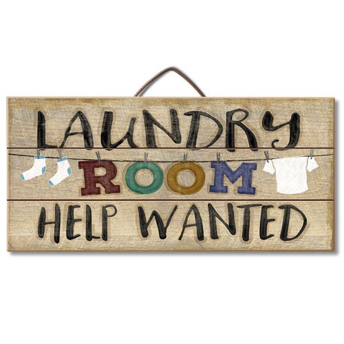 Highland Woodcrafters Laundry Room Help Wanted Reclaimed Wood Pallet Sign - Made in USA!
