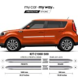 (Fits) KIA Soul 2015-2019 Chrome Body Side Molding Moulding Cover Trim Door Protector
