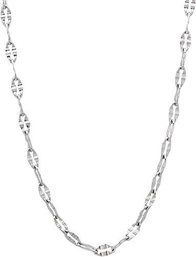 The Bling Factory 2mm Durable Stainless Steel Rounded Box Link Chain Necklace Jewelry Cloth /& Pouch