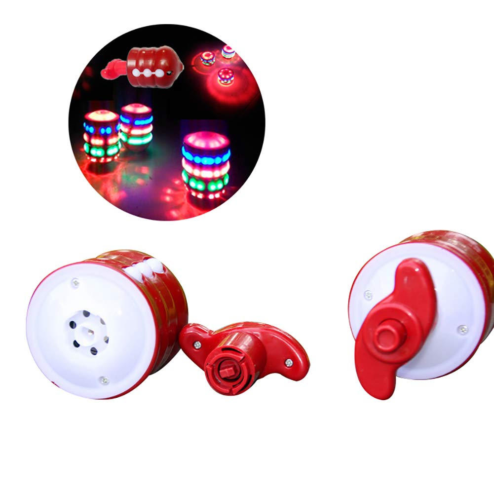 Electric Gyro Spinning Peg Top LED Flash Light Music Kids Outdoor Game Toy Gift Maserfaliw Spinning Top Toy