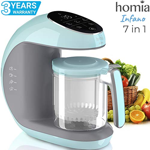 Baby Food Maker Chopper Grinder – Mills and Steamer 7 in 1 Processor For Toddlers With Steam, Blend, Chop, Disinfect, Clean Function, 20 Oz Tritan Stirring Cup, Touch Control Panel, Auto Shut-Off, 110V Only For Sale