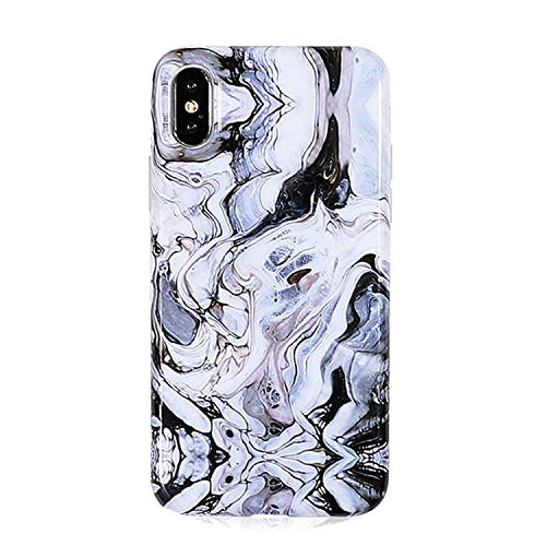 (Marble Pattern Kickstand Phone Case for iPhone X 6 6S 7 8 Plus Fashion IMD Soft Protective Phone Back Cover Case Coque,f,for iPhone XR)