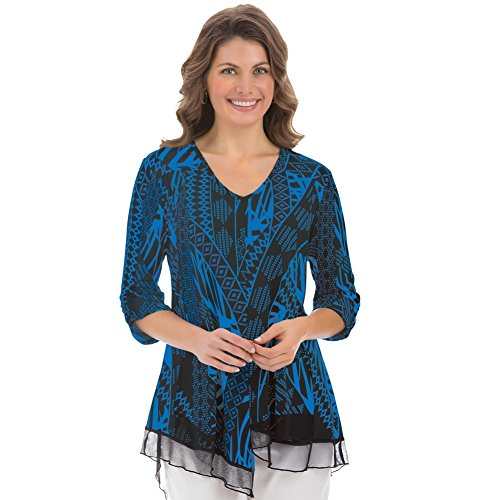Womens V neck Printed Machine Washable