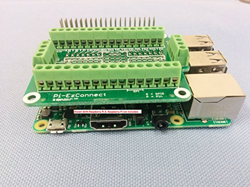 Alchemy Power Inc. Pi-EzConnect. Raspberry Pi 2 and Raspberry Pi 3 GPIO connector. A HAT to connect GPIOs and sensors to Raspberry a Pi-2 or Pi-3.