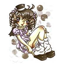 Krisgoat - Playing Coy Anime Bubble Girl - Sticker / Decal