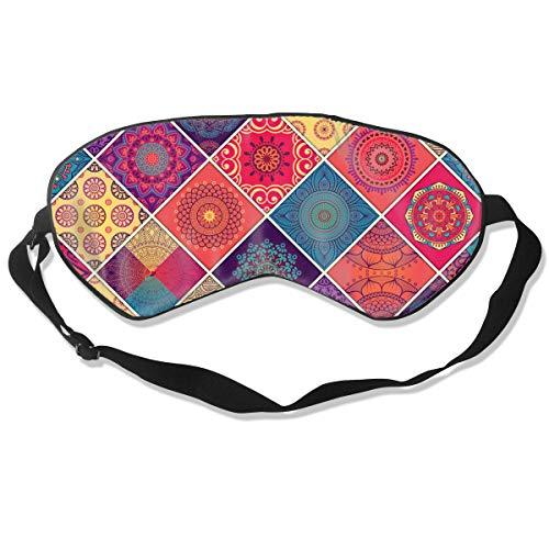 - Sleep Mask Colourful Patterns Detail Adjustable Sleep Silkworm Eye Mask